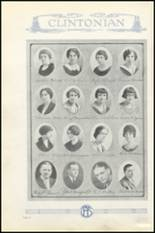 1925 Clinton High School Yearbook Page 20 & 21