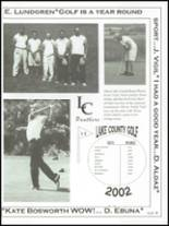 2003 Lake County High School Yearbook Page 92 & 93