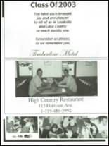 2003 Lake County High School Yearbook Page 140 & 141