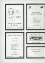 1975 Moscow High School Yearbook Page 188 & 189