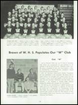 1961 Waukesha High School (thru 1974) Yearbook Page 182 & 183
