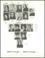 1970 West High School Yearbook Page 110 & 111