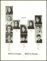 1970 West High School Yearbook Page 112 & 113