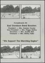 1982 East Davidson High School Yearbook Page 178 & 179