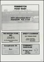 1982 East Davidson High School Yearbook Page 216 & 217