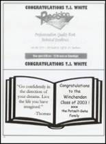 2003 Winchendon School Yearbook Page 114 & 115