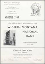 1957 Missoula County High School Yearbook Page 204 & 205