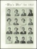 1937 Melrose High School Yearbook Page 20 & 21