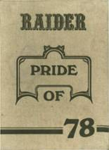 1978 Yearbook Rider High School