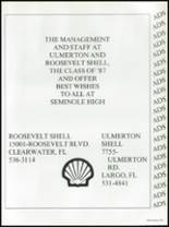 1987 Seminole High School (Pinellas County) Yearbook Page 240 & 241