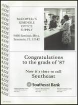 1987 Seminole High School (Pinellas County) Yearbook Page 276 & 277