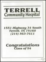 1994 Terrell High School Yearbook Page 222 & 223