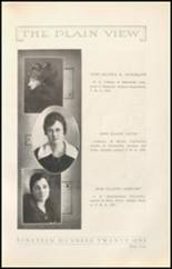 1921 Plainview High School Yearbook Page 12 & 13