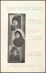 1921 Plainview High School Yearbook Page 14 & 15