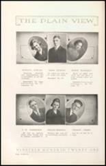 1921 Plainview High School Yearbook Page 22 & 23