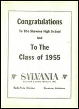 1955 Shawnee High School Yearbook Page 130 & 131