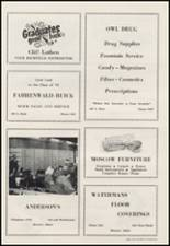 1956 Moscow High School Yearbook Page 128 & 129