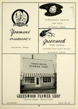 1956 Greenwood High School Yearbook Page 66 & 67