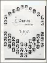 1992 Quanah High School Yearbook Page 108 & 109