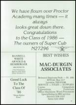 1986 Proctor Academy Yearbook Page 142 & 143