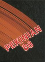 1988 Yearbook Pekin Community High School