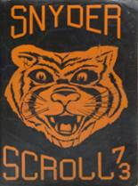1973 Yearbook Snyder High School