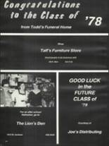 1978 Rushville Consolidated High School Yearbook Page 186 & 187