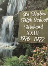 1977 Yearbook La Habra High School