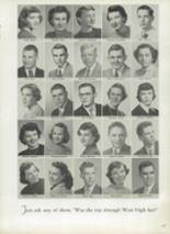 1952 West High School Yearbook Page 20 & 21