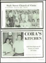 1989 Friona High School Yearbook Page 206 & 207