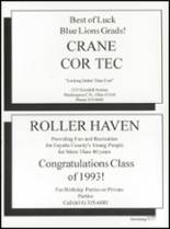 1993 Washington High School Yearbook Page 180 & 181