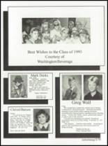 1993 Washington High School Yearbook Page 182 & 183