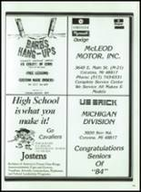 1984 Corunna High School Yearbook Page 172 & 173