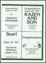1984 Corunna High School Yearbook Page 176 & 177