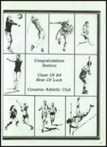 1984 Corunna High School Yearbook Page 182 & 183
