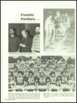 1982 Franklin High School Yearbook Page 100 & 101