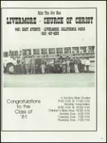 1981 Livermore High School Yearbook Page 222 & 223