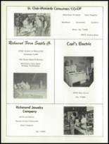 1960 Richmond High School Yearbook Page 112 & 113