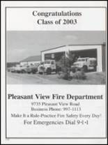 2003 Pleasant View High School Yearbook Page 114 & 115