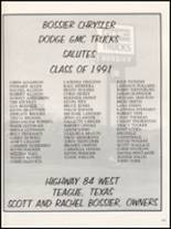 1991 Teague High School Yearbook Page 156 & 157