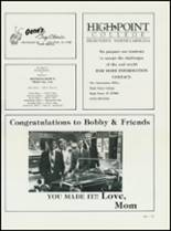 1984 High Point Central High School Yearbook Page 218 & 219