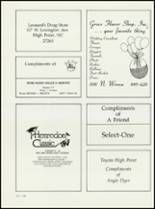 1984 High Point Central High School Yearbook Page 220 & 221