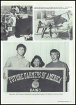 1987 Baird High School Yearbook Page 70 & 71
