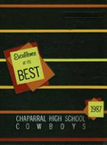 1987 Yearbook Chaparral High School