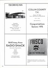 1975 Frisco High School Yearbook Page 16 & 17