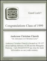 1999 Anderson County High School Yearbook Page 208 & 209