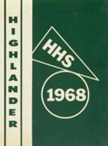 1968 Yearbook Highland High School