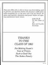 1983 Trinity Christian Academy Yearbook Page 248 & 249