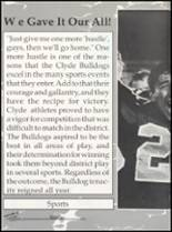 1993 Clyde High School Yearbook Page 10 & 11