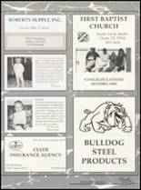 1993 Clyde High School Yearbook Page 166 & 167